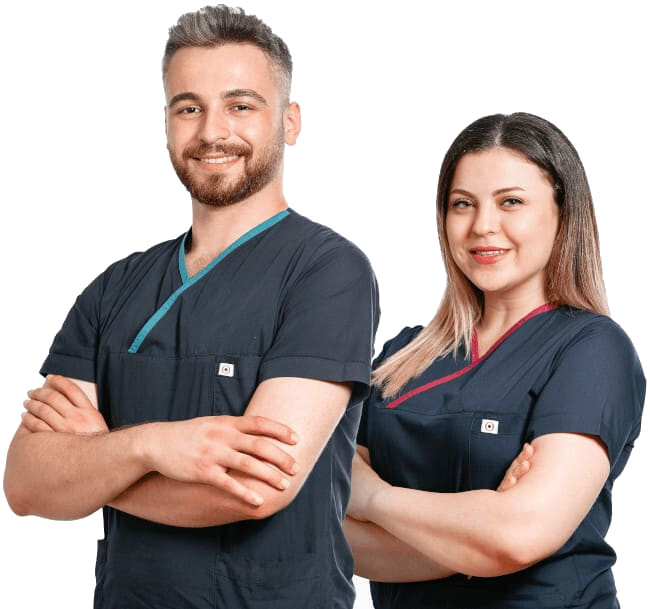 Members of the Elithair clinic team for hair transplantation