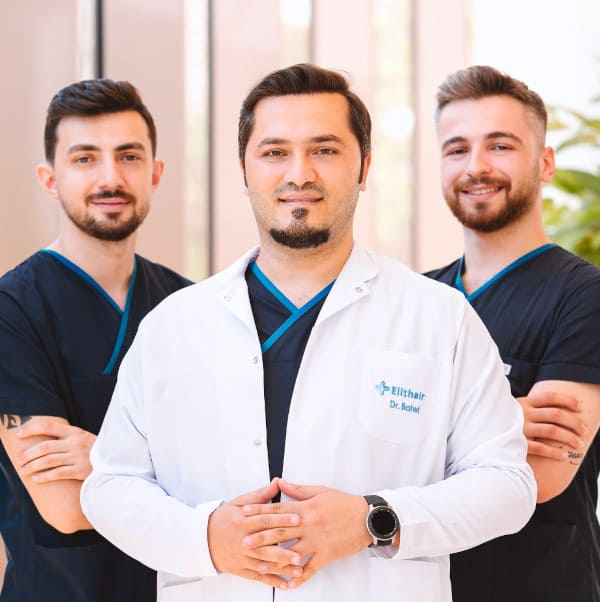 Dr Balwi with the Elithair medical team