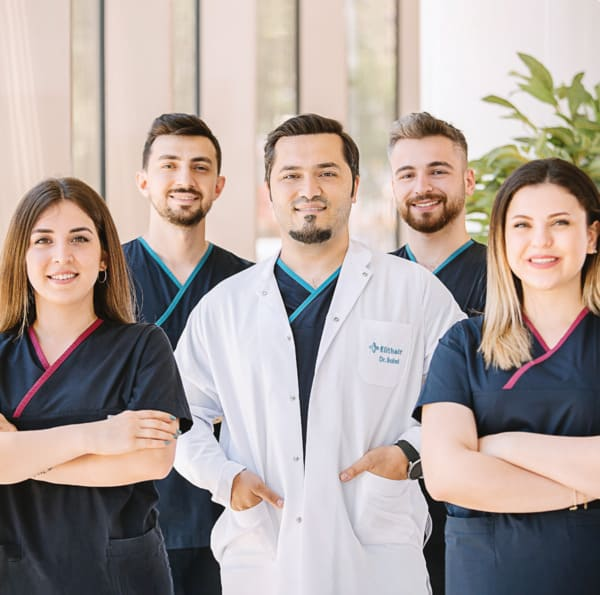 Dr Balwi with his team of hair transplant specialsts