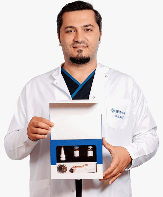 Dr Balwi shows the NEO FUE Set from Elithair
