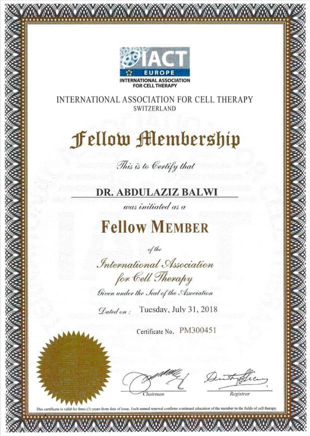 Elithair Certificate Membership IA/CT Sulza