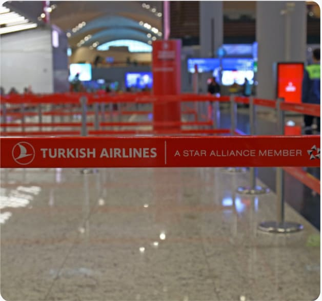 check in at the airport with turkish airlines