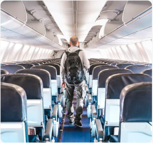 the aeroplane corridor